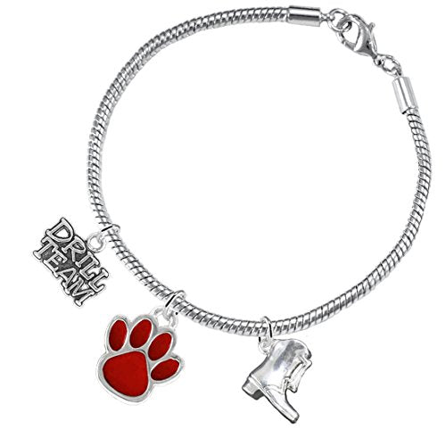 """the perfect gift """"drill team jewelry"""" red paw  ©2015 hypoallergenic safe - nickel & lead free"""