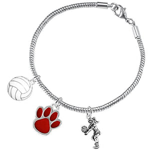 Red Paw Volleyball, ©2016 Adjustable, Safe - Hypoallergenic, Nickel, Lead & Cadmium Free