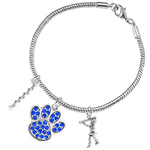 "The Perfect Gift ""Majorette Jewelry"" Blue Crystal Paw ©2015 Safe - Nickel & Lead Free"