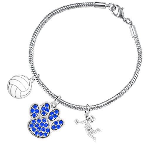 blue crystal paw volleyball,  ©2016 adjustable, safe - hypoallergenic, nickel, lead & cadmium free