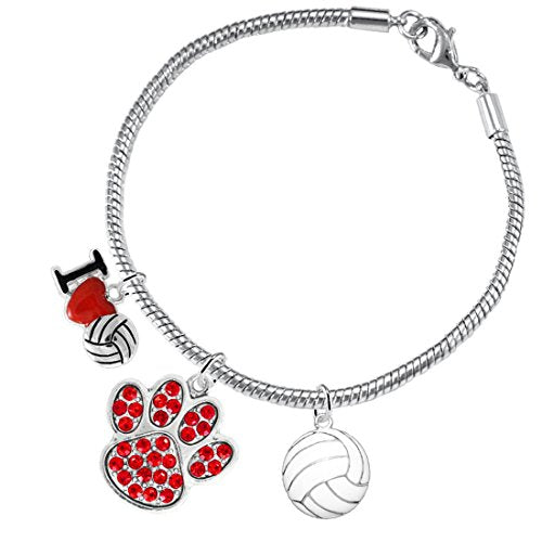 red crystal paw volleyball,  ©2016 adjustable, safe - hypoallergenic, nickel, lead & cadmium free