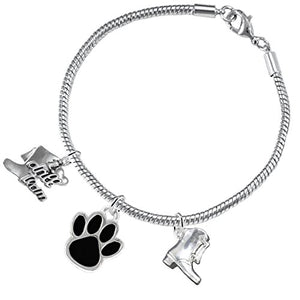 "The Perfect Gift ""Drill Team Jewelry"" Black Paw ©2015 Hypoallergenic Safe - Nickel & Lead Free"