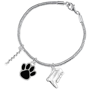 "The Perfect Gift ""Majorette Jewelry"" Black Paw ©2015 Hypoallergenic Safe - Nickel & Lead Free"
