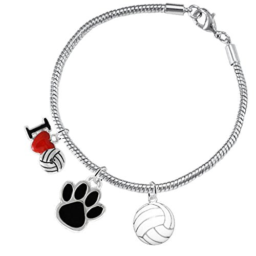 Black Paw Volleyball, ©2016 Adjustable, Safe - Hypoallergenic, Nickel, Lead & Cadmium Free