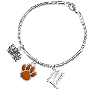 "The Perfect Gift ""Drill Team Jewelry"" Orange Paw ©2015 Hypoallergenic Safe - Nickel & Lead Free"