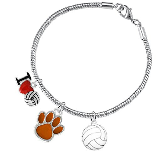 Orange Paw Volleyball, ©2016 Adjustable, Safe - Hypoallergenic, Nickel & Lead Free