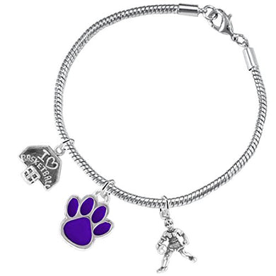 Purple Paw Basketball Jewelry, ©2016 Adjustable, Safe - Hypoallergenic, Nickel & Lead Free