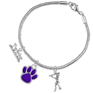 "The Perfect Gift ""Majorette Jewelry"" Purple Paw ©2015 Hypoallergenic Safe - Nickel & Lead Free"