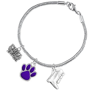 "The Perfect Gift ""Drill Team Jewelry"" Purple Paw ©2015 Hypoallergenic Safe - Nickel & Lead Free"