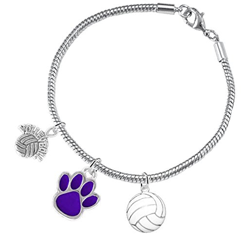 Purple Paw Volleyball, ©2016 Adjustable, Safe - Hypoallergenic, Nickel & Lead Free