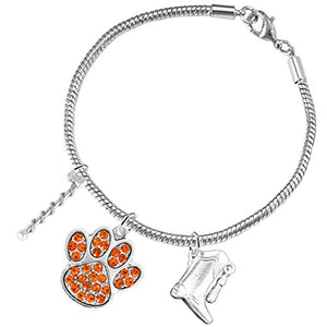 "The Perfect Gift ""Majorette Jewelry"" Orange Crystal Paw ©2015 Safe - Nickel & Lead Free"