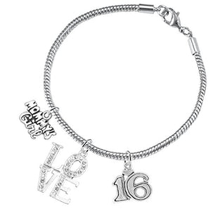 "The Perfect Gift Sweet Sixteen Hypoallergenic ""Love"" Bracelet ©2016, Nickel, Lead & Cadmium Free!"