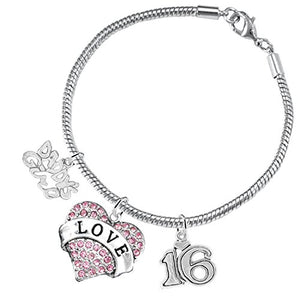 "The Perfect Gift Sweet Sixteen Hypoallergenic ""Love"" ©2016 Safe - Nickel, Lead & Cadmium Free!"