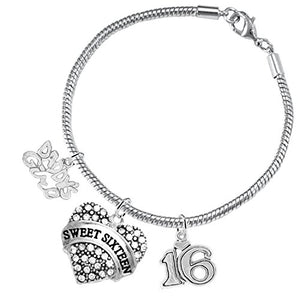 "The Perfect Gift Sweet Sixteen Hypoallergenic ""Love"" Bracelet, ©2016 Nickel, Lead & Cadmium Free!"