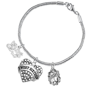 "The Perfect Gift Sweet Sixteen Hypoallergenic ""Love"" Bracelet ©2016 Nickel, Lead & Cadmium Free!"
