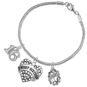 "The Perfect Gift Sweet Sixteen Hypoallergenic ""Love"" Bracelet ©2016, Safe - Nickel & Lead Free!"