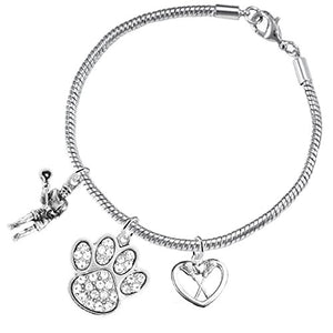 Lacrosse Jewelry, Orange Crystal Paw Jewelry, ©2015 Hypoallergenic Safe - Nickel & Lead Free!