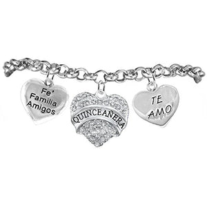The Perfect Gift Quinceanera ©2015 Hypoallergenic Bracelet, Safe - Nickel, Lead & Cadmium Free!