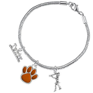 "The Perfect Gift ""Majorette Jewelry"" Orange Paw ©2015 Hypoallergenic Safe - Nickel & Lead Free"