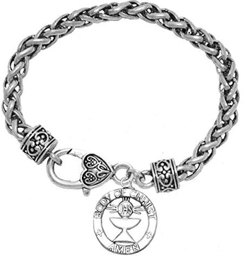 Communion Crystal Heart Bracelet, Safe - Nickel, Lead & Cadmium Free!