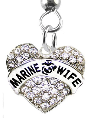 The Perfect Gift Marine Wife Hypoallergenic Fishhook Earring, Safe - Nickel & Lead Free