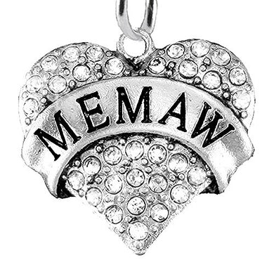 Memaw Charm Post Earrings ©2015 Hypoallergenic, Safe - Nickel, Lead & Cadmium Free!