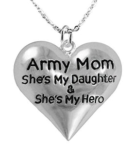 "Army Enlisted ""Daughter"", My Daughter Is My Hero, Adjustable, Safe - Nickel & Lead Free."