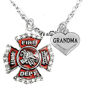Firefighter, Grandma Adjustable Necklace, Hypoallergenic, Safe - Nickel & Lead Free