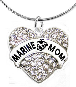 The Perfect Gift Marine Mom Hypoallergenic Necklace, Safe - Nickel & Lead Free