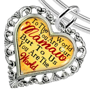 Mamaw Heart Charm Bracelet ©2016 Hypoallergenic, Adjustable, Safe, Nickel, Lead & Cadmium Free!