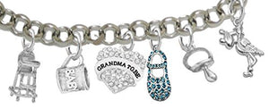 "Grandma to Be, ""It's A Boy"", Adjustable Bracelet, Hypoallergenic, Safe - Nickel & Lead Free"