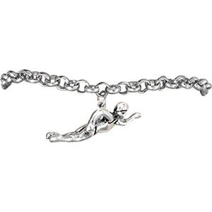 Swimming Charm Bracelet ©2009 Hypoallergenic, Adjustable Safe - Nickel, Lead & Cadmium Free!