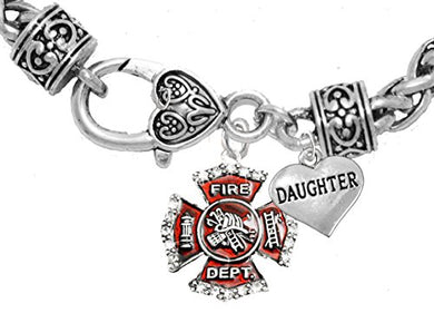 Firefighter Daughter Bracelet, Hypoallergenic, Safe - Nickel & Lead Free