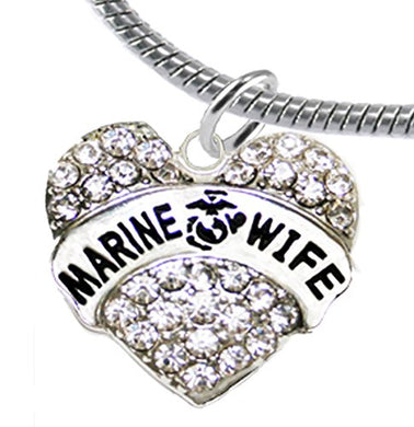 The Perfect Gift Marine Wife Hypoallergenic Bracelet, Safe - Nickel, Lead & Cadmium Free