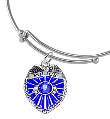 Perfect Gift, Policeman Badge Adjustable Bracelet Hypoallergenic Safe - Nickel & Lead Free,