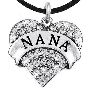 Nana Charm Necklace ©2015 Adjustable, Hypoallergenic, Safe - Nickel, Lead & Cadmium Free!
