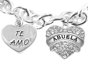 Te Amo Abuela Toggle Bracelet, Hypoallergenic, Safe - Nickel & Lead Free