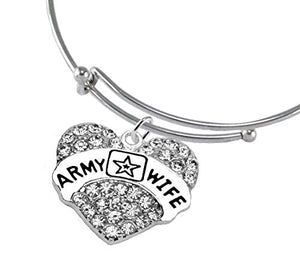 The Perfect Gift Army Mom Hypoallergenic Adjustable Bracelet, Safe - Nickel & Lead Free