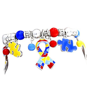 Autism, Hypoallergenic Stretch Bracelet. ©2004 Nickel, Cadmium, and Lead Free