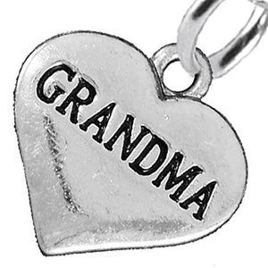 Grandma Heart Charm Post Earrings ©2016 Hypoallergenic, Safe - Nickel, Lead & Cadmium Free!