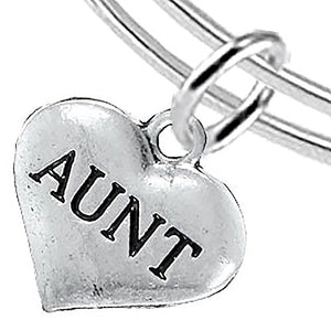 Aunt Adjustable Bracelet, Will NOT Irritate Anyone with Sensitive Skin, Safe, Nickel Free.