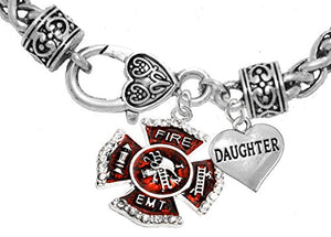 EMT Daughter Adjustable Bracelet, Hypoallergenic, Safe - Nickel & Lead Free