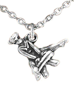 "Children's ""Gymnast on Gym Horse"" Adjustable Necklace - Nickel, Lead & Cadmium Free"