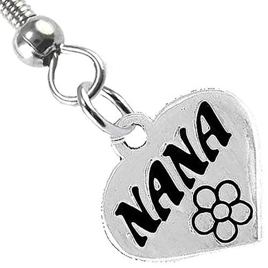 Nana Charm Fishhook Earrings ©2008 Hypoallergenic, Safe - Nickel, Lead & Cadmium Free!