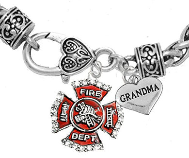 Firefighter Grandma Bracelet, Hypoallergenic, Safe - Nickel & Lead Free