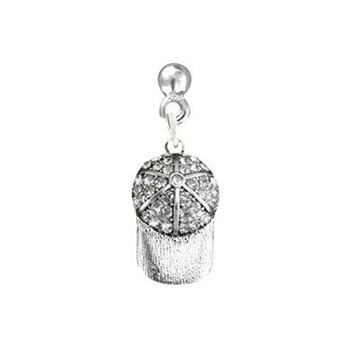 Genuine Crystal Cap, Softball Post Earring