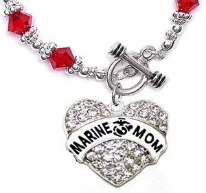 The Perfect Gift Marine Mom Hypoallergenic Toggle Bracelet, Safe - Nickel, Lead & Cadmium Free