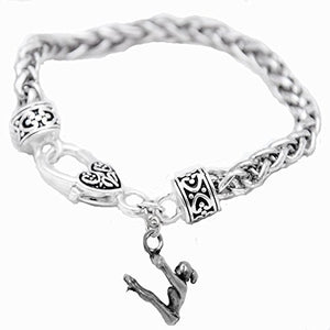 "Gymnast ""Swinging on Rings"" Charm Bracelet - Safe, Nickel, Lead & Cadmium Free!"