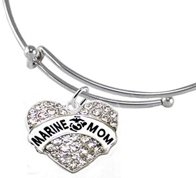 The Perfect Gift Marine Mom Hypoallergenic Bracelet, Safe - Nickel & Lead Free