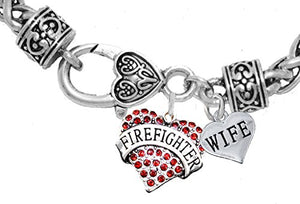 Firefighter Wife Bracelet, Hypoallergenic, Safe - Nickel & Lead Free